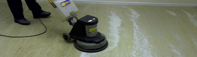 Floor polishing cleaning